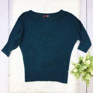 Anthro, Lefton Houston Green Dolman Sweater